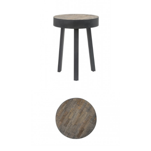 Round Ambata Wooden Side Table