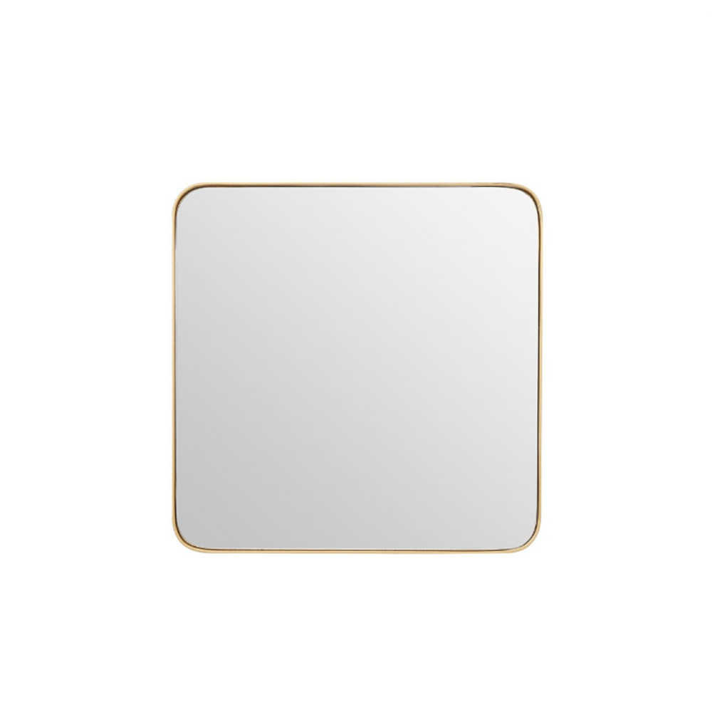 Small Square Golden Mirror