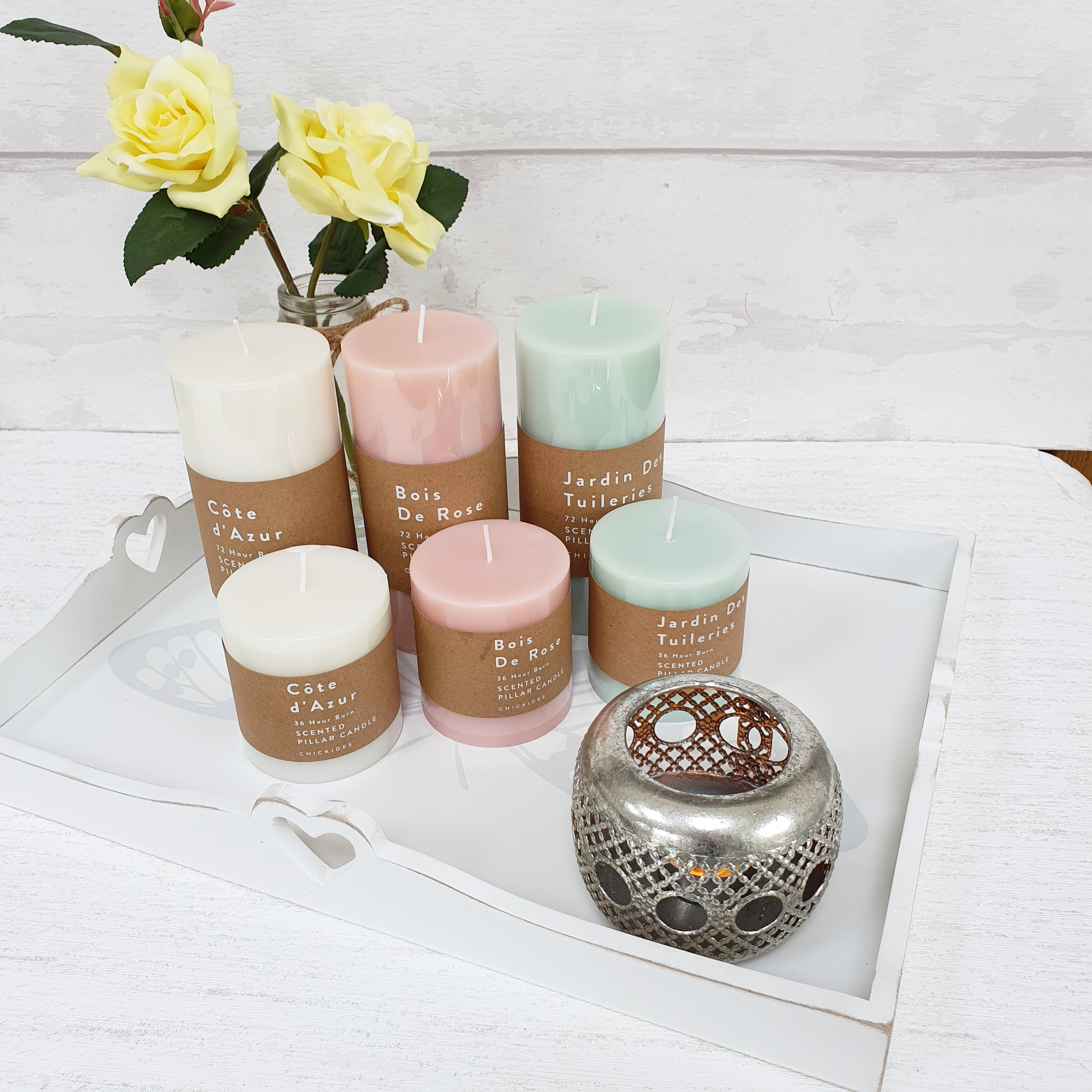 Scented Pastel Pillar Candles