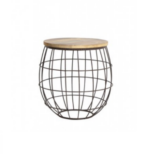 Round Wired Barrel Side Table