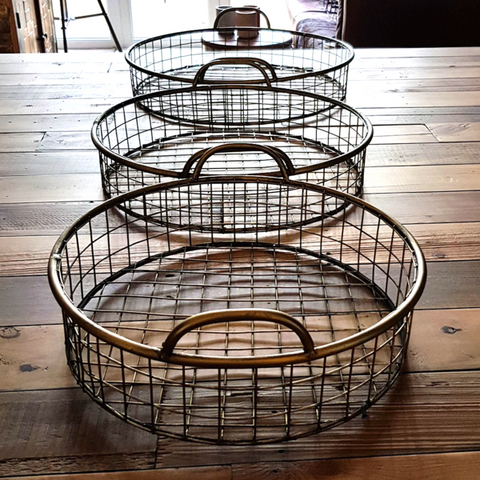 Set Of 4 Tonal Woven Square Baskets