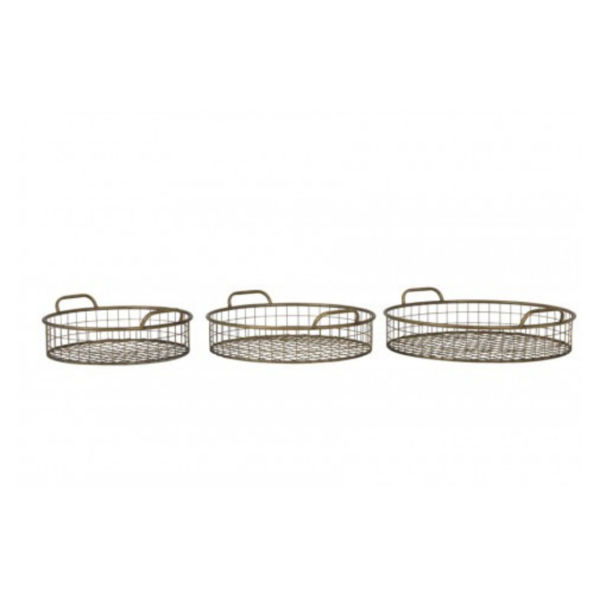 Set of 3 Round Rustic Baskets
