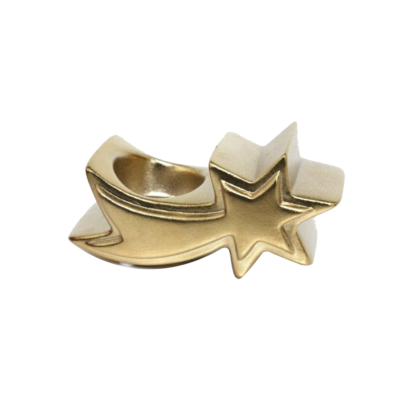 Shooting Gold Star Tea Light Candle Holder - Set of 3