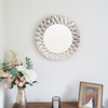 Silver Geometric Wall Mirror Front