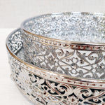 Revelare Silver Style Round Mirror Display Trays