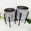 Industrial Style Table Top Planter Set