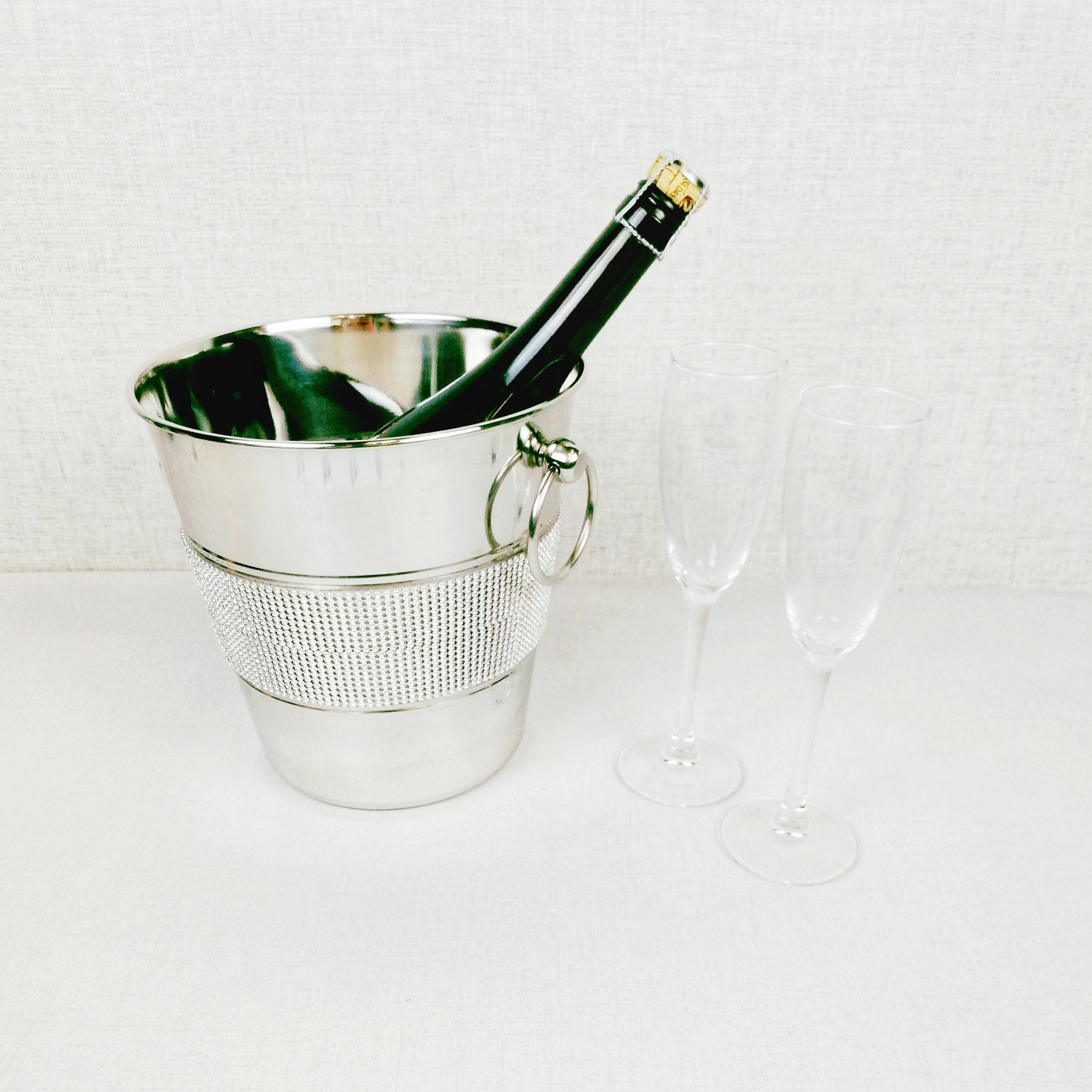 Studded Silver Style Champagne Bucket