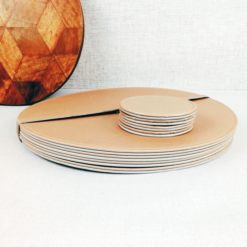 Reversible Placemat and Coaster Set