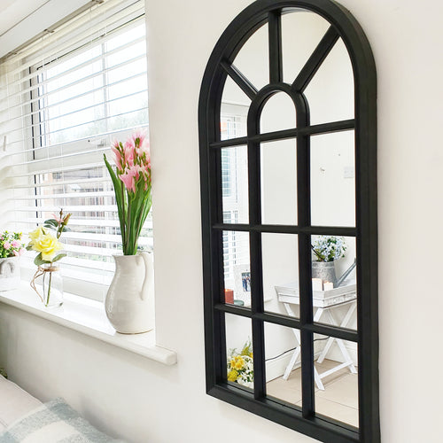 Velit Window Style Wall Mirror - White or Black