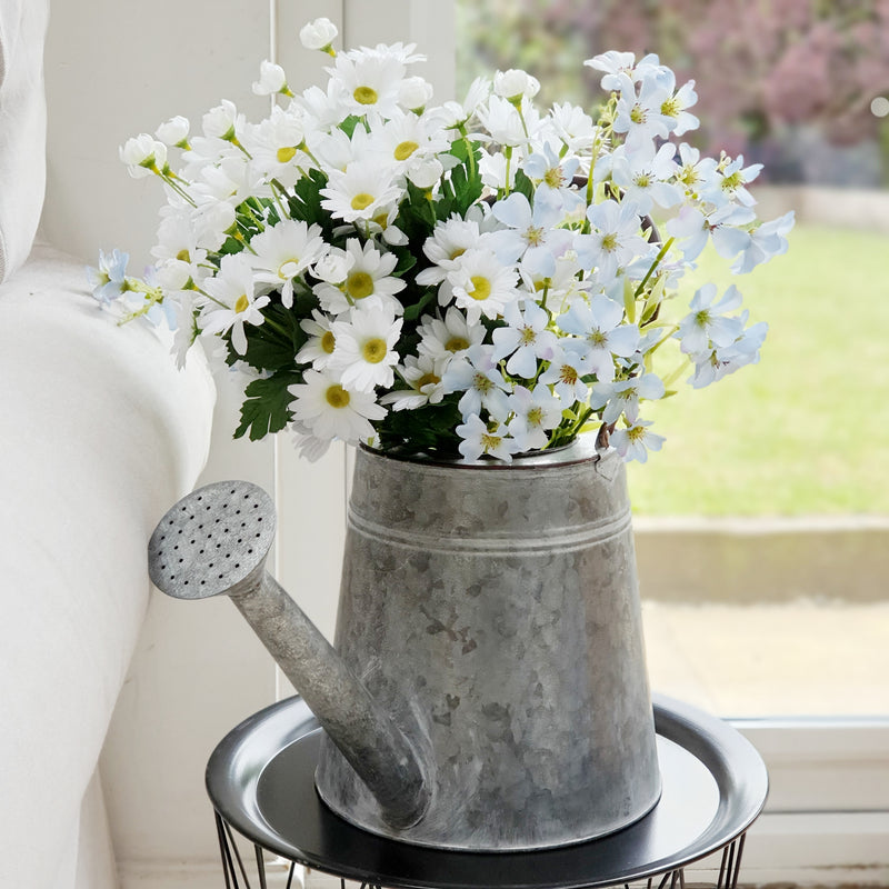 Zinc Decorative Watering Can Planter