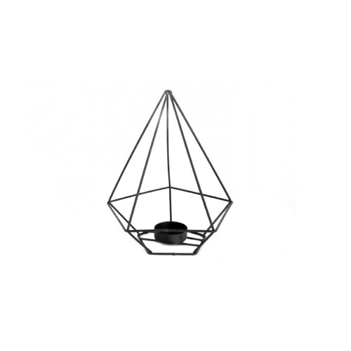 Black Pyramid Geometric Tea light Holder
