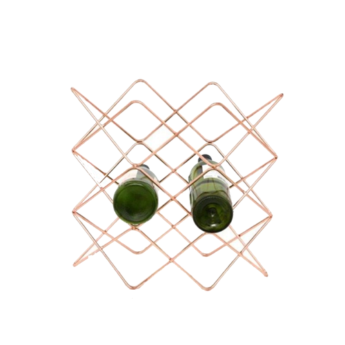 Copper Diamonde Wine Rack