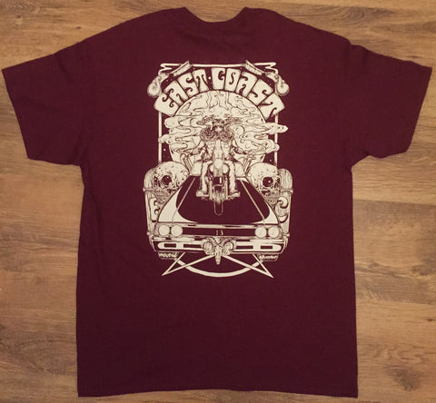 Road Warrior T-shirt, Burgundy.
