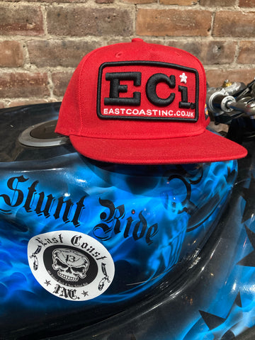 ECi New era snap back red cap