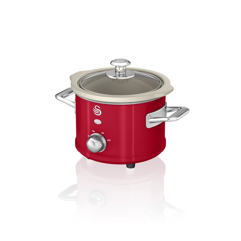 Swan 1.5L Slow Cooker Retro