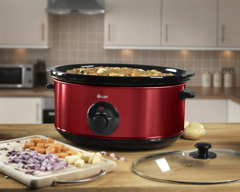 Swan 6.5 Litre Rouge Slow Cooker