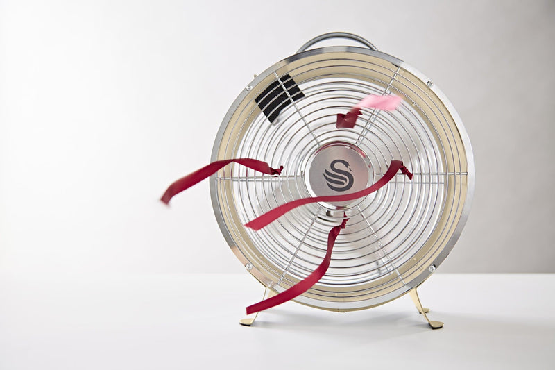Swan Retro 8 Inch Clock Fan