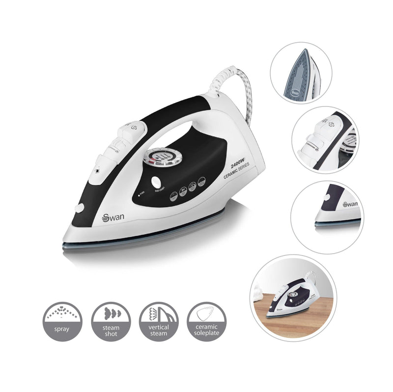 Swan 2400W Ceramic Sole Plate Iron
