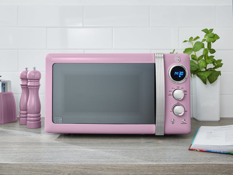 Swan 800W Retro Digital Microwave