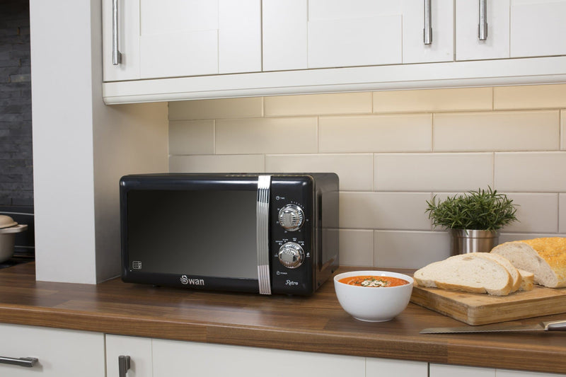 Swan 20 Litre Retro Manual Microwave