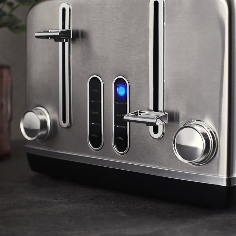 Swan Stainless Steel 4 Slice Toaster