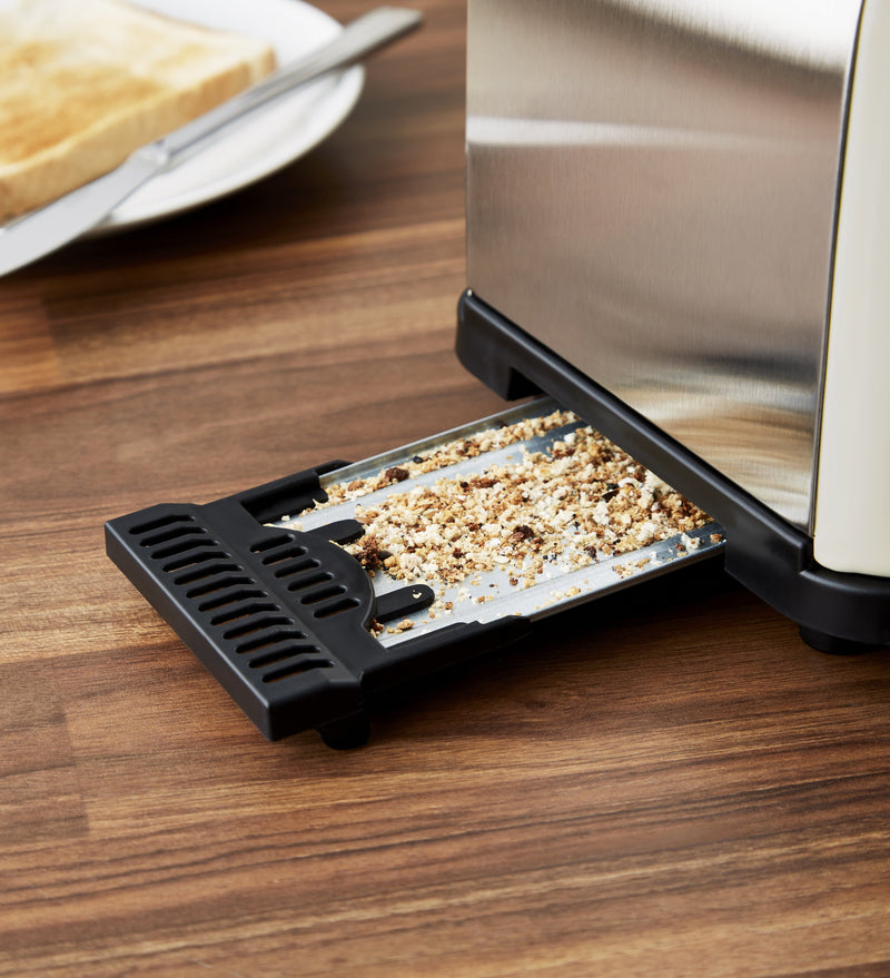 Cream Swan Camden 2-Slice Toaster removeable crumb tray
