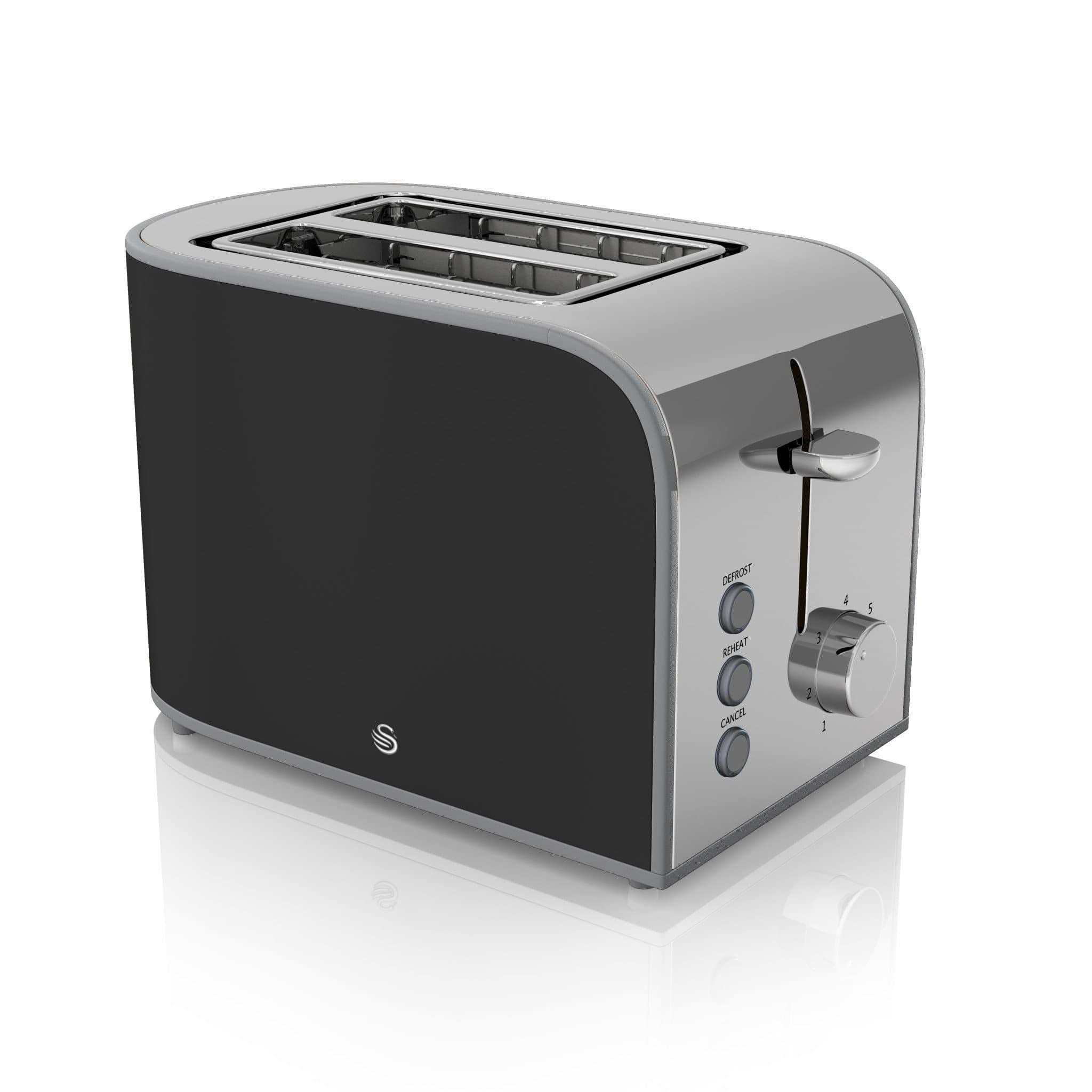 toaster decker for oven and thick breads black slice