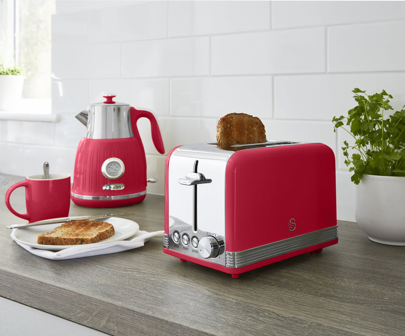 Swan 2 Slice Retro Toaster