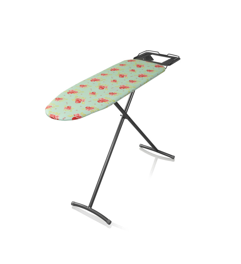 Swan Adjustable Ironing Board with Floral Design