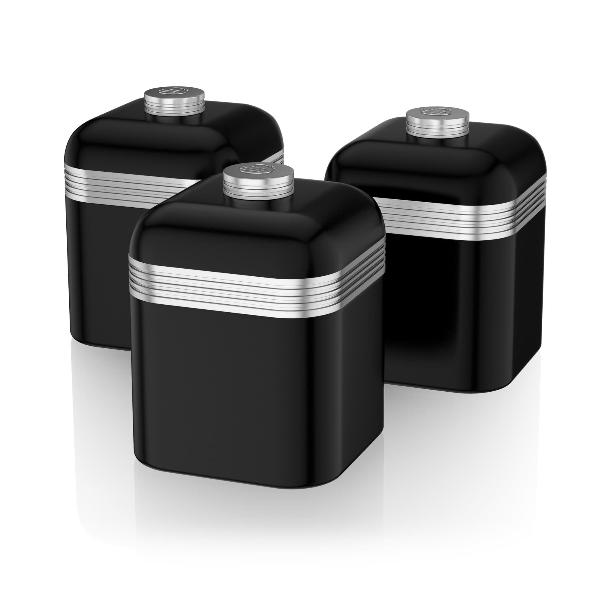 Swan Retro Set Of 3 Canisters Swan Brand