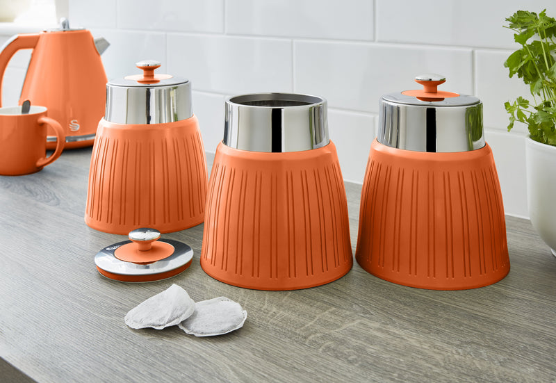 Swan Retro Set of 3 Canisters