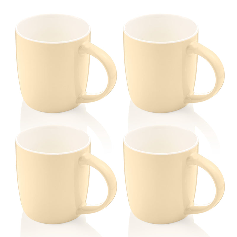 Swan Set of 4 Retro Mugs
