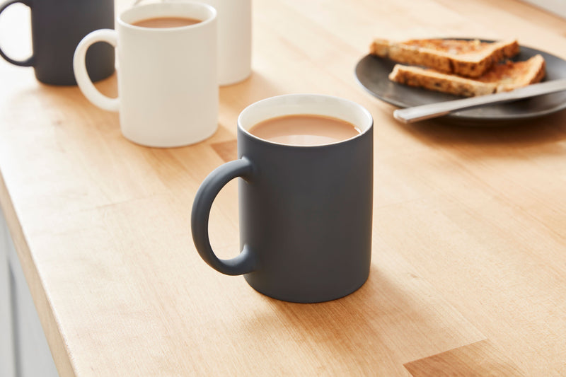 Swan Set of 4 Soft Touch Nordic Mugs