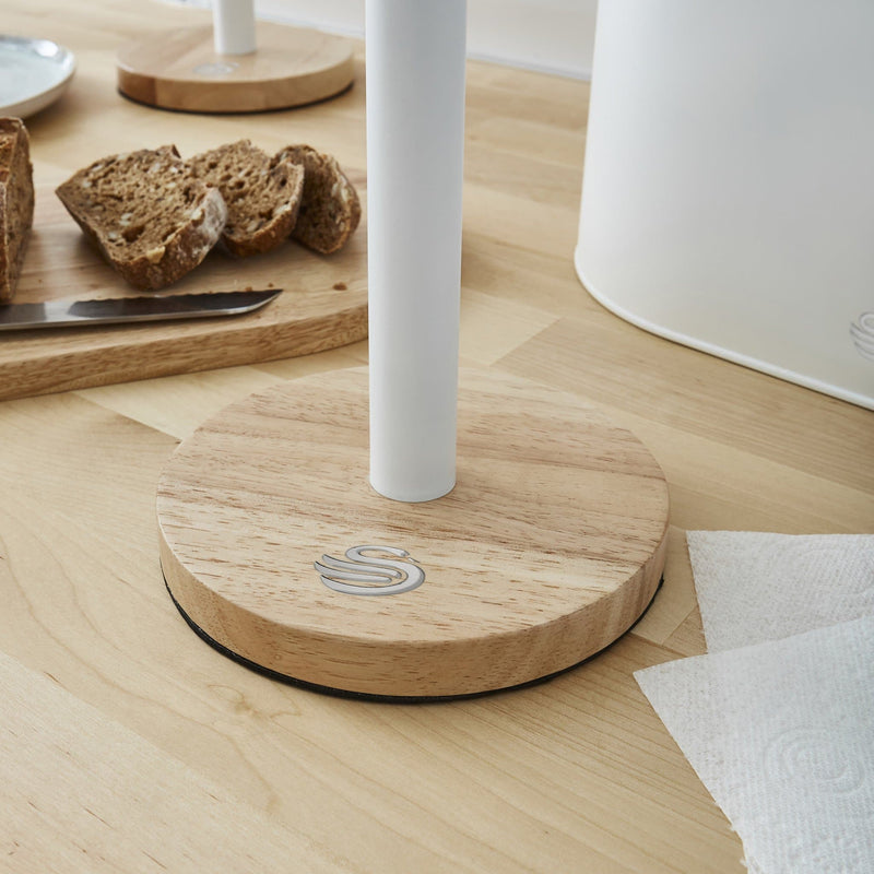 Swan Nordic Towel Pole with Bamboo Base