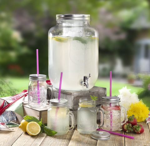 Swan 8L Glass Beverage Dispenser Set