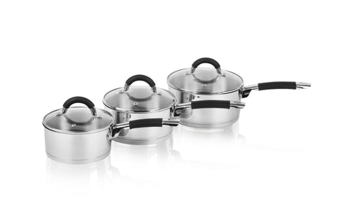 Swan 3 Piece Saucepan Set 16/18/20cm S/Steel