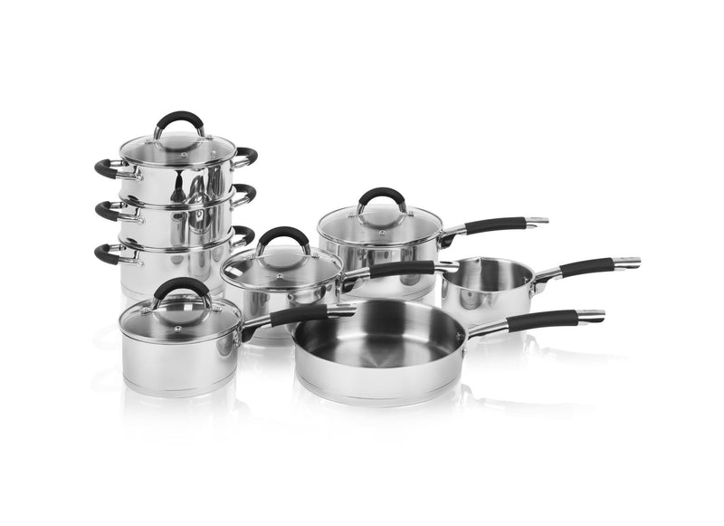 Swan 8 Piece Pan Set with S/Steel