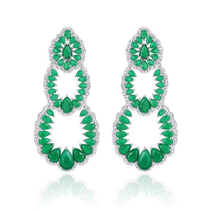 'Emerald Green' Earrings