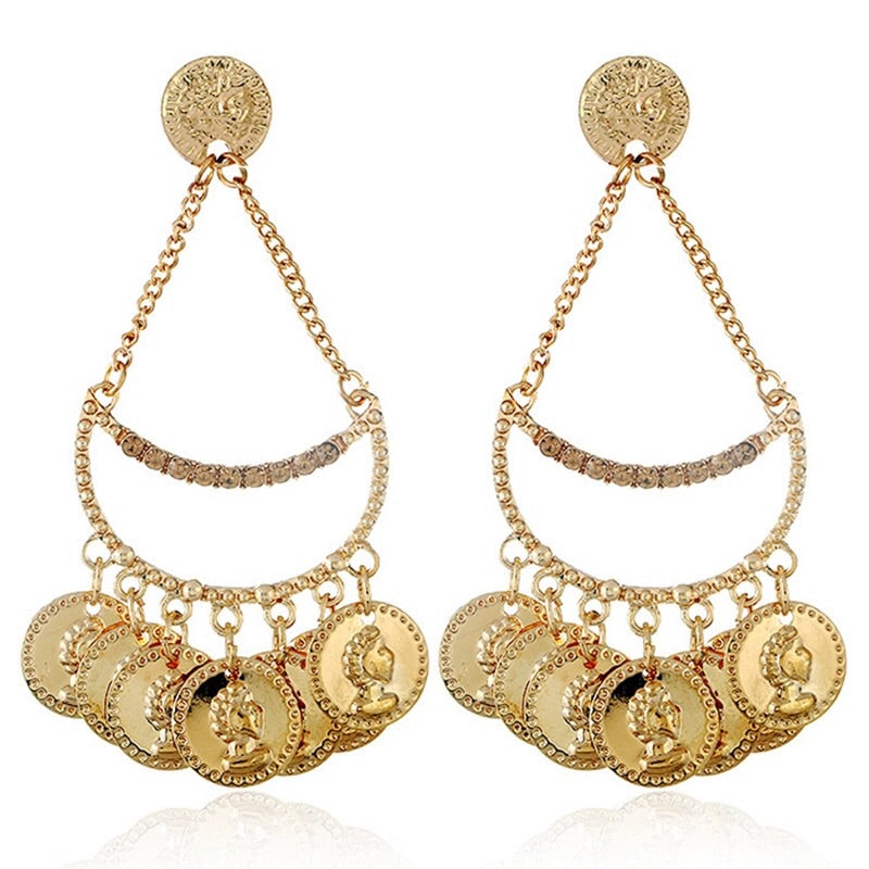 'Antique Coins' Earrings