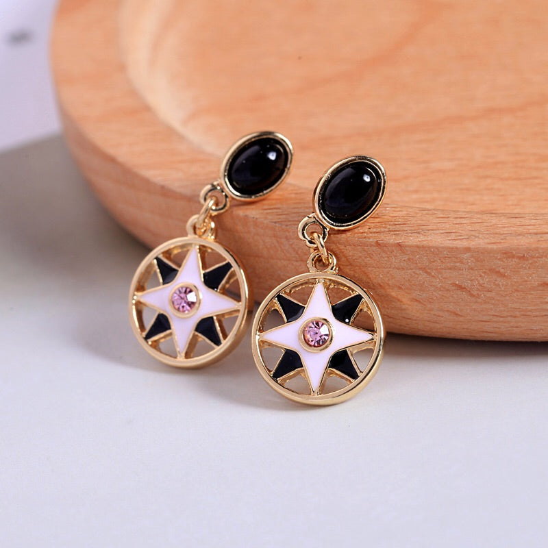'Enamel Star' Earrings