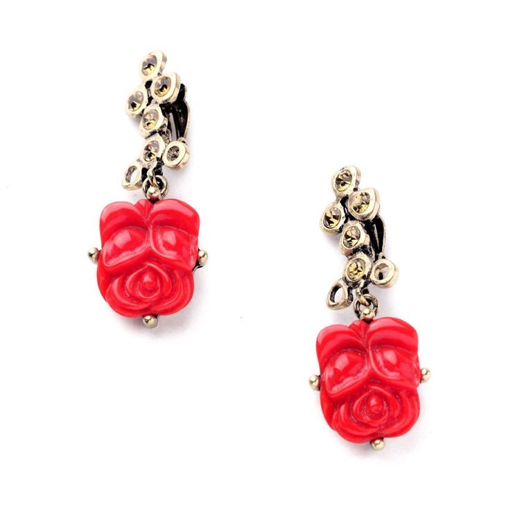 'Flamenco' Clip Earrings