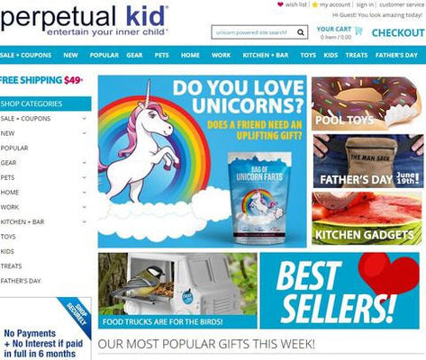 Unicorn Farts now at Perpetualkid.com