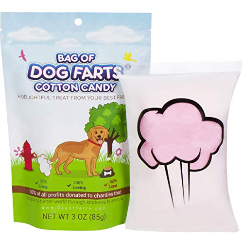 Little Stinker Bag of Dog Farts Cotton Candy Funny Dog Lover Gift for All Ages Unique Birthday for Friends, Mom, Dad, Girl, Boy Gag Gift