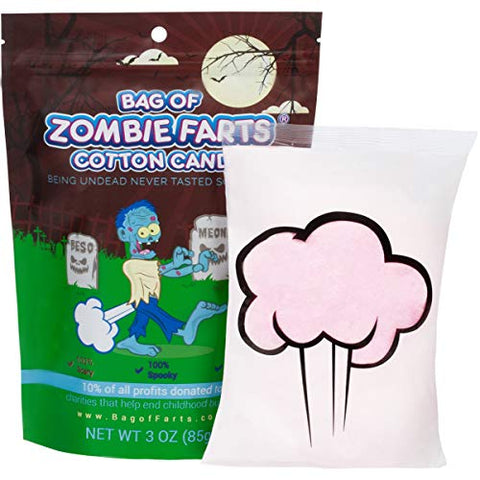 Little Stinker Bag of Zombie Farts Cotton Candy Funny Novelty Gift for Unique Birthday Gag Gift for Friends, Mom, Dad, Girl, Boy Grandson