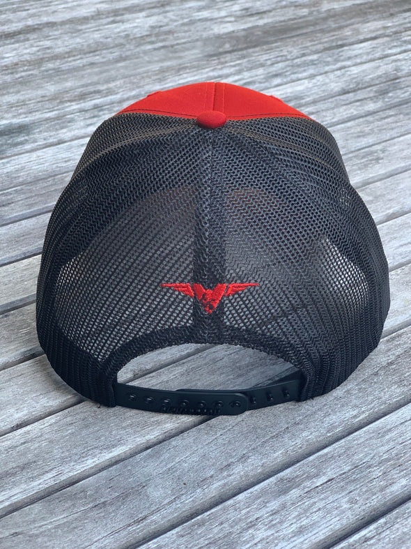 TNQP Red and Black Trucker Hat