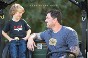 Toddler & Youth Never Quit Tee - TNQ Vintage Logo
