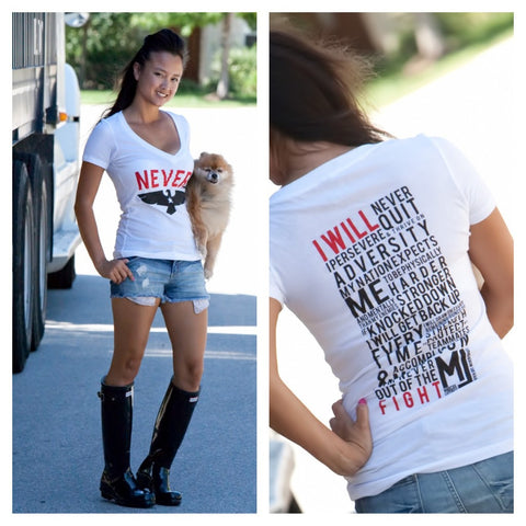 Never Quit Women's Creed - Vintage TNQ Logo
