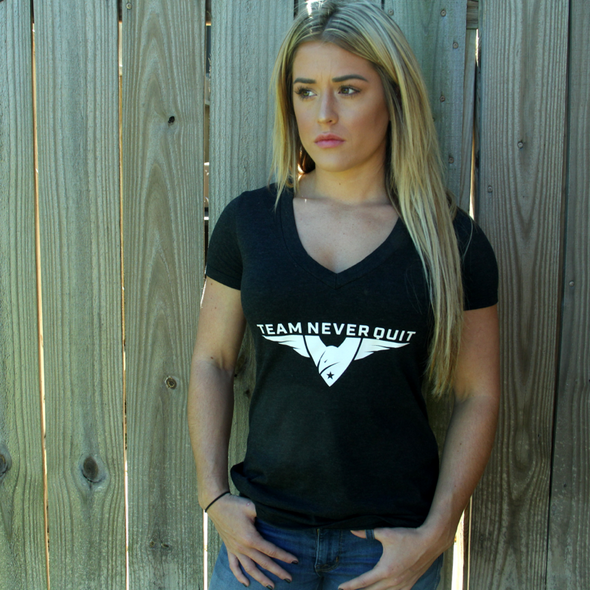 Team Never Quit Women's Creed V-Neck