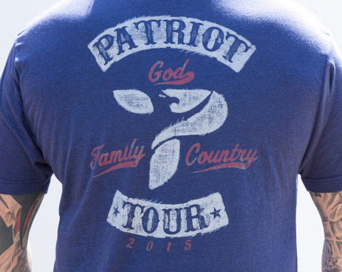 "Patriot Tour ""God Family Country""  Tee"