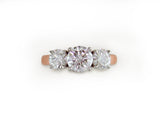 PRONG SET DIAMOND 3-STONE RING